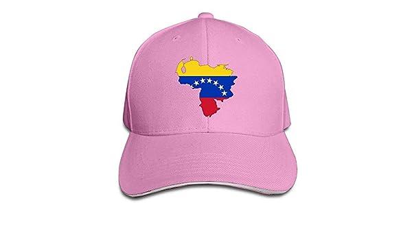 Bgejkos Mapa de la Bandera de Venezuela Algod/ón S/ándwich para Adultos Gorra de Pico Sombrero Deportivo Regalo QW422