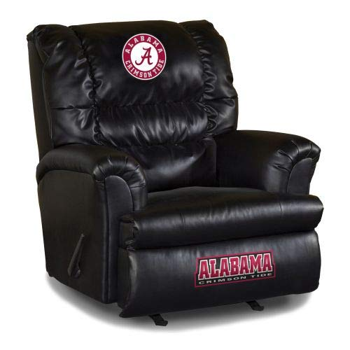 Imperial Officially Licensed NCAA Furniture: Big Daddy Leather Rocker Recliner, Alabama Crimson -