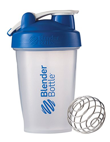 BlenderBottle Classic Loop Top Shaker Bottle, Clear/Blue, 20-Ounce