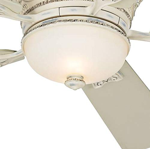 Cheap 52 ancestry hugger low profile ceiling fan with - Bedroom ceiling fans with remote control ...