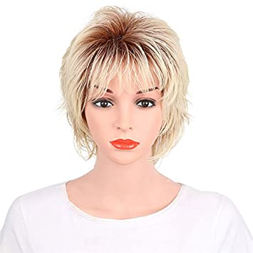 Haned Hellblond Synthetische Kurzes Haar Perücken Für Frauen, Europa, In  Den Vereinigten Staaten Gilt