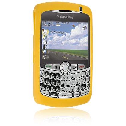 Premium Blackberry Curve 8300 8310 8320 8330 Silicone Skin Case - Yellow