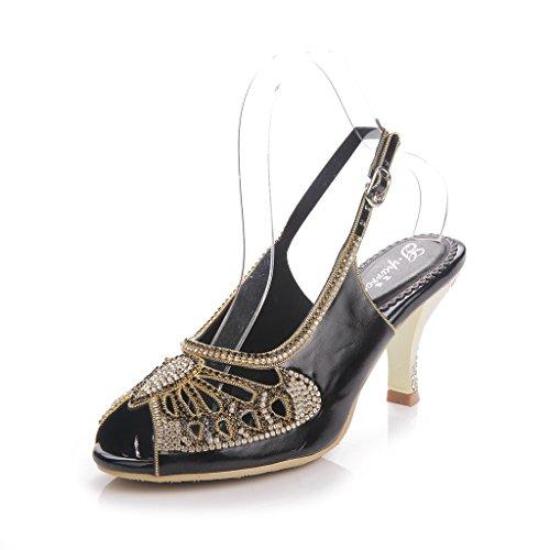 Sandalias Heels Meijili Mujer Meijili Mujer Sandalias Black Black Black Meijili Heels Meijili Mujer Heels Sandalias UAqUw8H