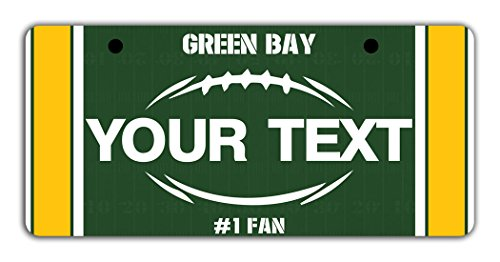 BleuReign(TM) Personalized Custom Name Football Green Bay Bicycle Bike Moped Golf Cart 3