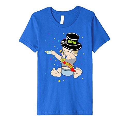 Kids DABBING NEW YEARS t-shirt - New Year Baby 2018 Dab shirt 8 Royal Blue