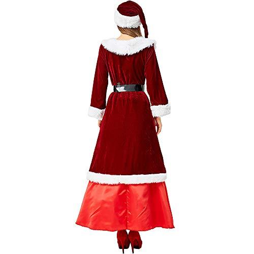 La Sra. Santa Claus Traje de Navidad Vestido Cosplay Traje ...