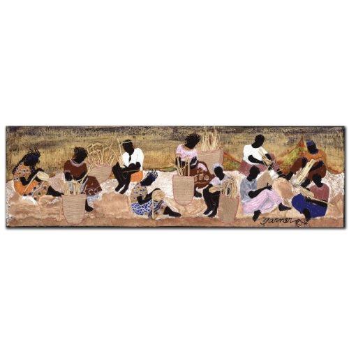 Basket Weavers by Garner Lewis, 14x47-Inch Canvas Wall Art (The Basket Weaver)