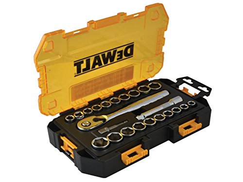 (DEWALT DWMT73813 Drive Socket Set (23 Piece), 1/2