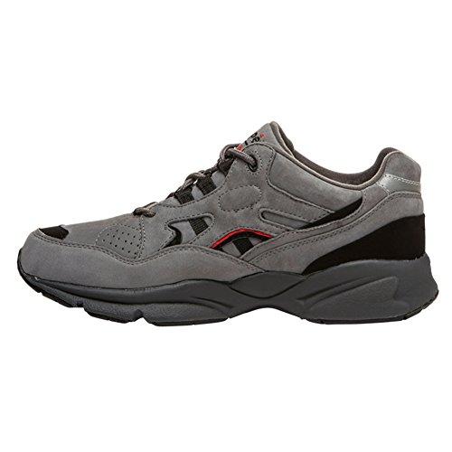 Propét Men's Stability Walker Medicare/Hcpcs Code = A5500 Diabetic Shoe Sneaker Grey, Black Nubuck