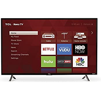 Amazon.com: TCL 49S405 49-Inch 4K Ultra HD Roku Smart LED TV (2017 ...
