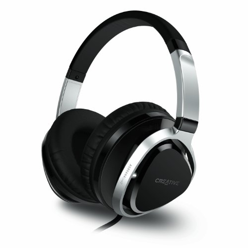 Creative Aurvana Live!2 Over-the-ear Headset with Detachable Cable and in-line Microphone - Black - Creative Labs Over The Ear Headphone