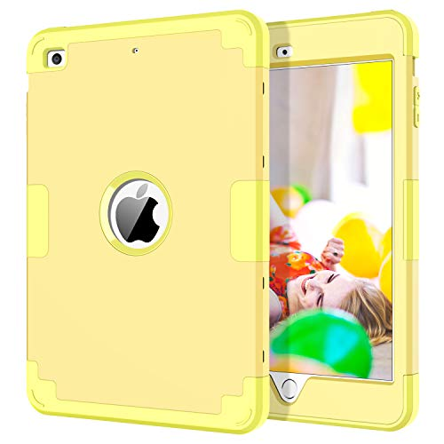 iPad Mini Case, iPad Mini 2 Case, iPad Mini 3 Case, BENTOBEN 3 in 1 Heavy Duty Shockproof Slim Anti-Slip Hybrid Soft Silicone Hard PC Cover Rugged Protective Case for Apple iPad Mini 1 2 3, Yellow