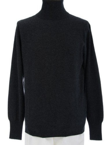 4 Ply Shephe Men's Turtleneck Cashmere Sweater Charcoal Grey Extra Large by Shephe