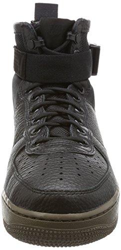 Nike Mujer W SF AF1Mid, Negro/Black-dark Hazel Black/Black-dark Hazel