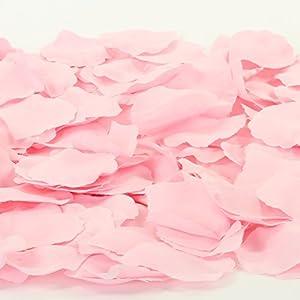 Koyal Wholesale Silk Rose Petals Confetti, Blush Pink, Bulk 1200-Pack Wedding Flowers Table Scatter, Rose Petal Aisle Runner 2
