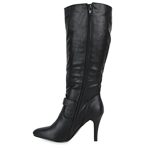 Stiefelparadies Women's Boots Black BxmJXu0zs