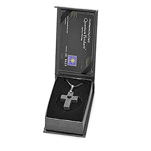 Tvoip Quantum Pendant Negative Volcanic Stone Energy Anion Pendant Jesus Cross Pendant Health Necklace