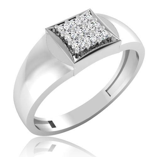 0,20 ct corte redondo Natural Diamond anillos de boda para hombre sólido 14 K