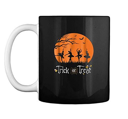 (Trick Or Treat Funny Halloween Cotume Ballet Dancer Mug Coffee Mug (White, 11)