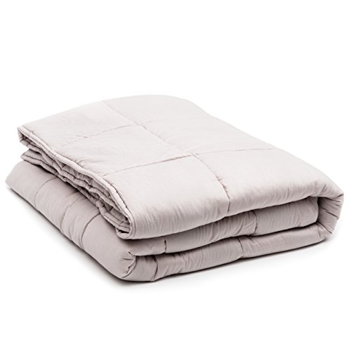 Luna Weighted Blanket (15 lbs | 60'' x 80'')•Scientifically Engineered for Stress, Anxiety, ADHD, Autism, Deeper Sleep• 100% Organic & Breathable Cotton • 100 Day Free Return by Luna Wellness (Image #1)