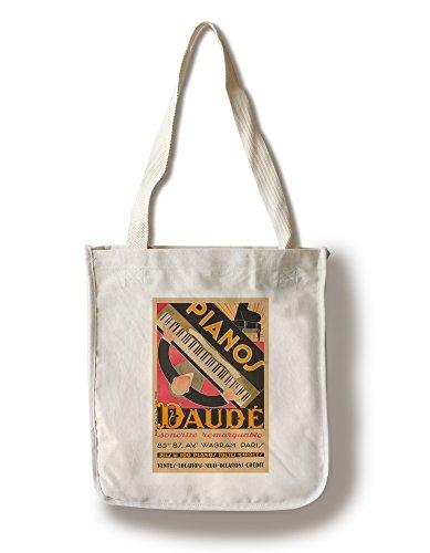 Lantern Press France - Pianos Daude - Sonorite Remarquable - (Artist: Daude c. 1926) - Vintage Advertisement (100% Cotton Tote Bag - Reusable)
