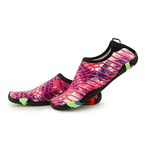 la Hombres Playa del Secos Borgoña Piel Barefoot Calcetines la Aqua de Zapatos COMVIP Quick de IfdqwZYZ