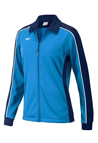 Speedo Streamline Warm Up Jacket, Navy/Blue, (Speedo Warm Ups)