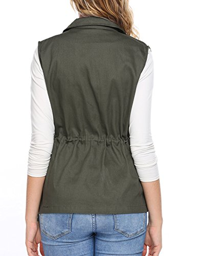 Zeagoo Womens Casual Work Utility Hunting Travels Sports Vest with Pockets, Army Green, XL by Zeagoo (Image #3)