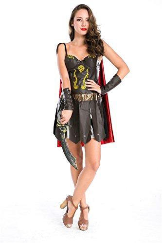 [Baju The ancient Greek God Of War Dress Halloween Costume Roman Gladiator] (Ancient Roman Soldier Costume)
