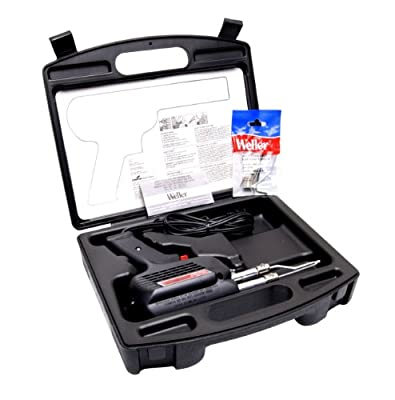 Weller D550PK 260-Watt/200W Professional Soldering Gun Kit with Three Tips and Solder in Carrying Case