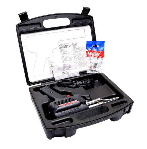 Weller Solder - Weller D550PK 260-Watt/200W Professional Soldering Gun Kit with Three Tips and Solder in Carrying Case