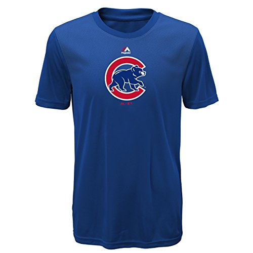 Chicago Cubs Youth Blue Cool Base Geo Strike T-shirt Medium 10-12 (Youth T-shirt Strike)