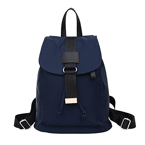 Yiuswoy Mode Laessig Drawstring Leinwand Taschen Reisetaschen Schultaschen Rucksack Fuer Damen - Blau