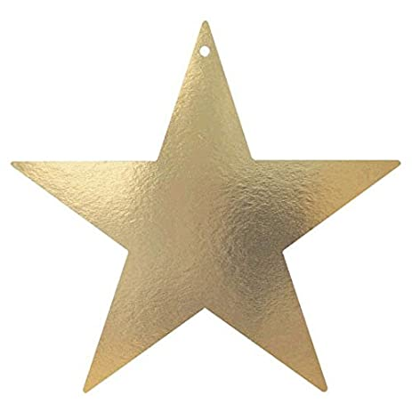 amazon com elegant star cutout party room wall decoration gold