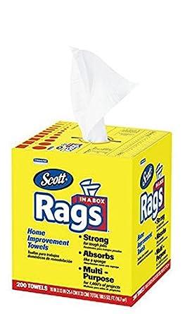 """10 """"x 13"""" Scott Rags en una caja (8 cajas/caso"""