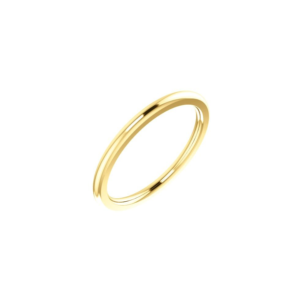 14k Yellow Gold 1.5mm Comfort Fit Band - Size 5.5