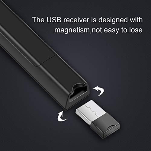 KRONIUM Wireless Presenter with Laser Pointer, Presentation Remote Presentation Clicker, Laser Pointer 2.4GHz USB Powerpoint PPT Clicker Flip Pen for Office Teacher,Support Hyperlink (Black) Photo #5