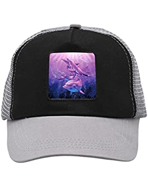 Unisex Pink Blue Dolphin Adjustable Classic Hiphop Hat Baseball Cap Snapback Dad Hat