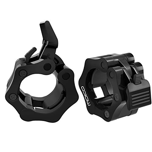 - MoKo Barbell Clamps, Quick Release Pair of Locking 2 inch Professional Olympic Weight Barbell Locks Collar Clips Great for Workout, Weightlifting, Fitness & Strength Training, 1 Pair, Black