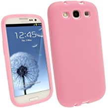 iGadgitz Baby Pink Silicone Skin Case Cover for Samsung Galaxy S3 III i9300 Android Smartphone Cell Phone + Screen Protector