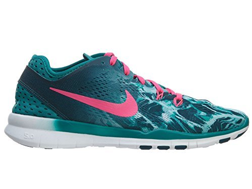 Nike Women's Free 5.0 Tr Fit 5 Training Shoe-Radiant Emerald/Pink-8.5