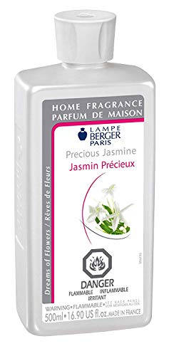 Precious Jasmine | Lampe Berger Fragrance Refill by Maison Berger | for Home Fragrance Oil Diffuser | Purifying and perfuming Your Home | 16.9 Fluid Ounces - 500 millimeters | Made in France