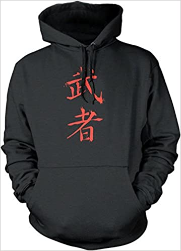 Amazon Big Texas Warrior Chinese Symbol Red Unisex Hooded