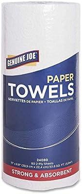 Genuine Joe GJO24080 2-Ply Household Roll Paper Towels (Bundle of 30 Rolls)