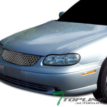 Topline Autopart Chrome Honeycomb Mesh Front Hood Bumper Grill Grille ABS For 97-99 Chevy Malibu