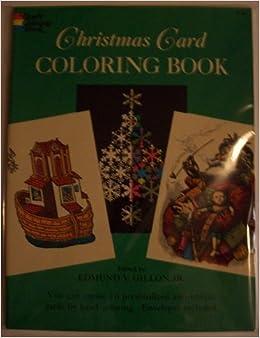 Amazon Com Christmas Card Coloring Book Dover Coloring Book