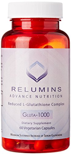 New Relumins Advance Nutrition Gluta 1000 - Reduced L-Glutathione Complex - 2x More Effective Than Jarrow at Raising Serum Glutathione by Relumins