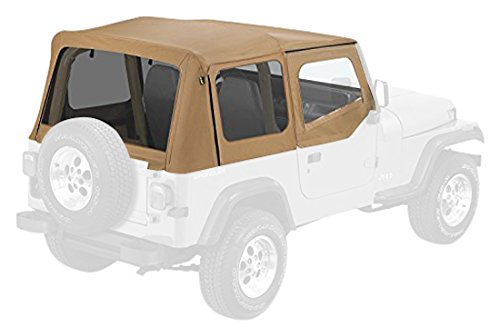 Soft Upper Doors (Pavement Ends by Bestop 51132-37 Spice Replay Replacement Soft Top Tinted Windows w/ Upper Door Skins for 1988-1995 Jeep Wrangler)