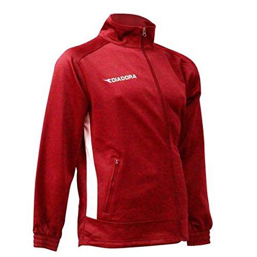 Diadora Men's Calcio Full Zip Jacket, Red, L