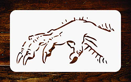 Monster Hand Stencil - 13 x 6.5 inch - Reusable Scary Halloween Wall Stencils Template - Use on Paper Projects Scrapbook Journal Walls Floors Fabric Furniture Glass Wood etc. -